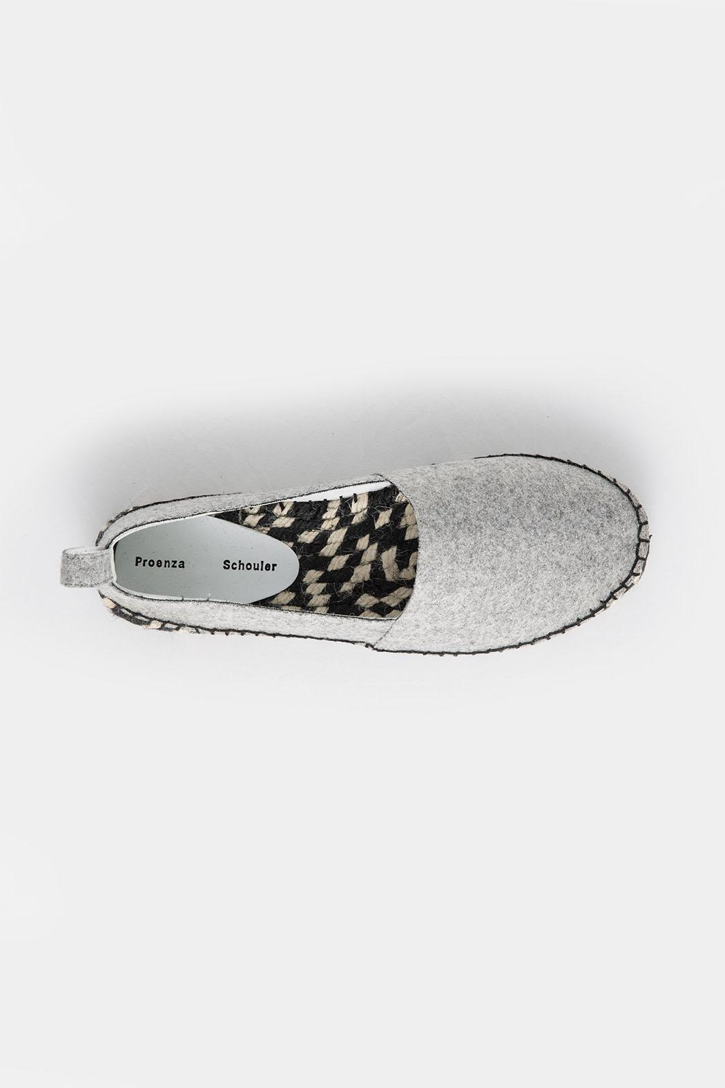 Proenza Schouler Proenza Grey Espadrille - Back Cropped Image