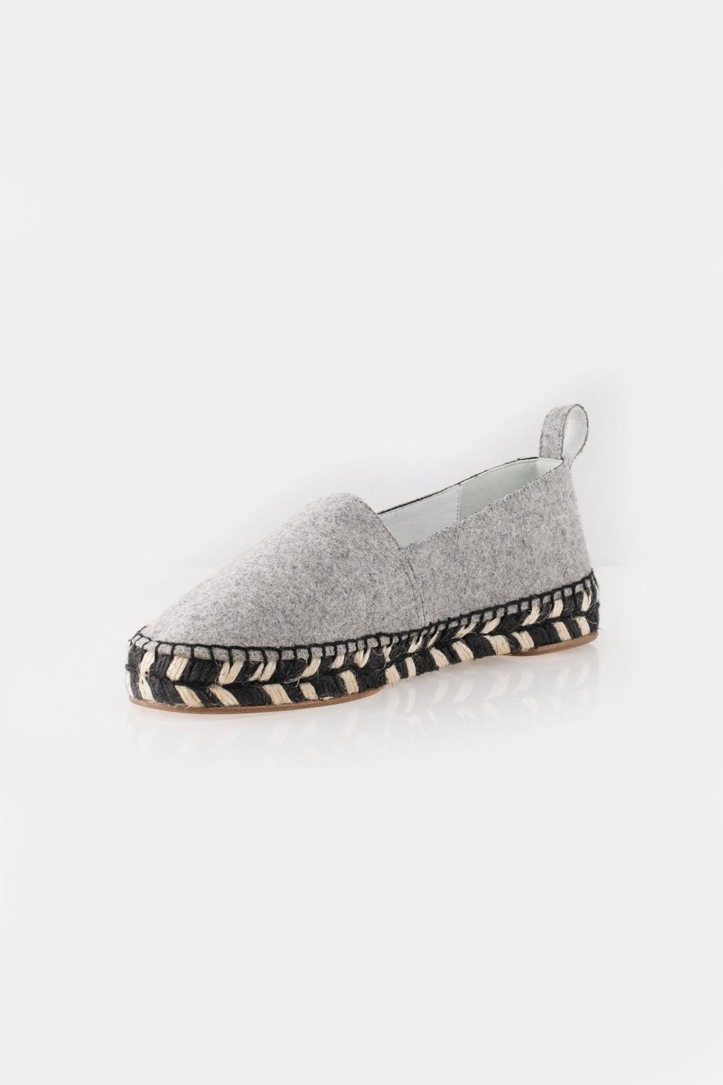 Proenza Schouler Proenza Grey Espadrille - Front Cropped Image