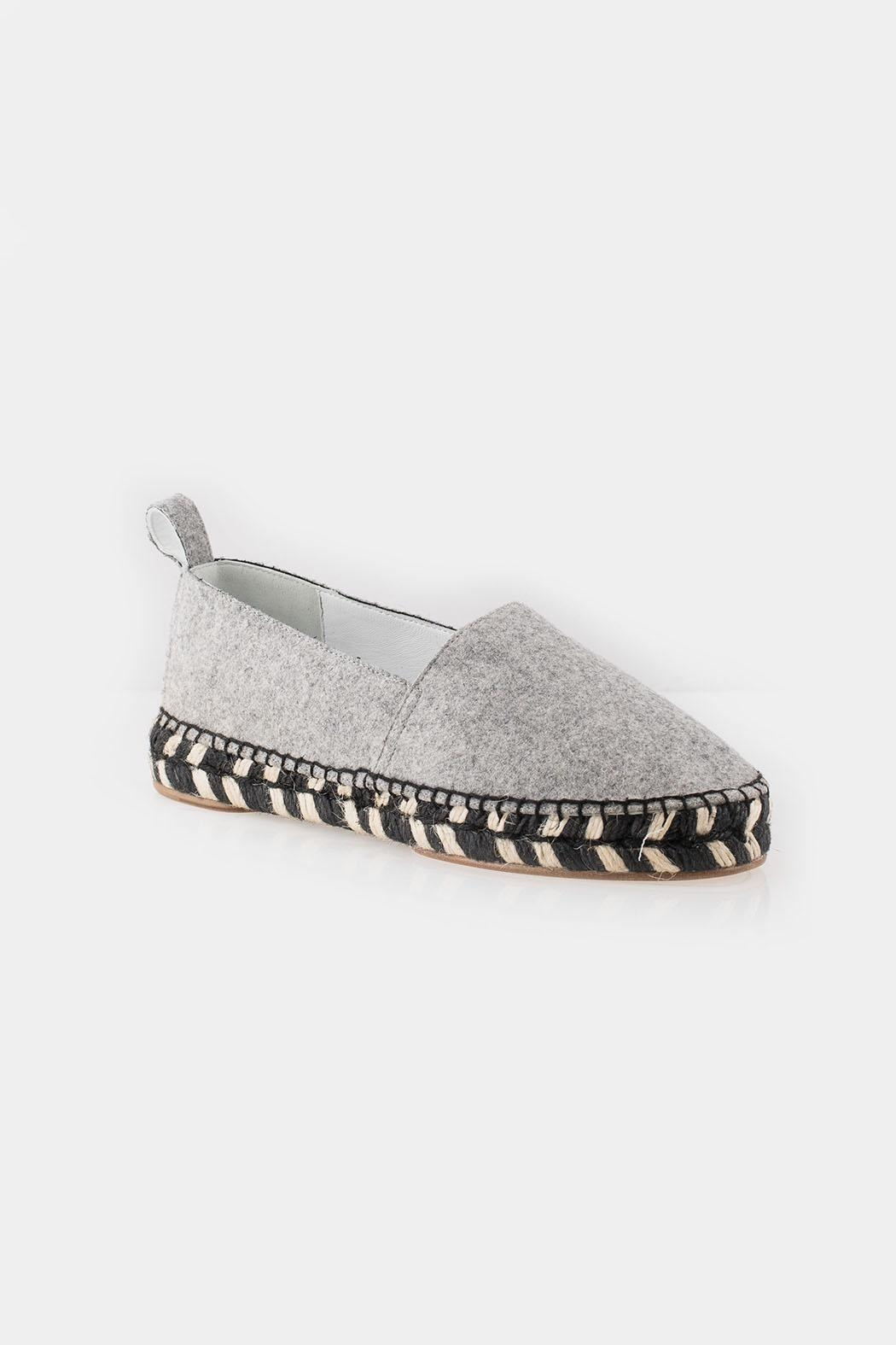 Proenza Schouler Proenza Grey Espadrille - Side Cropped Image