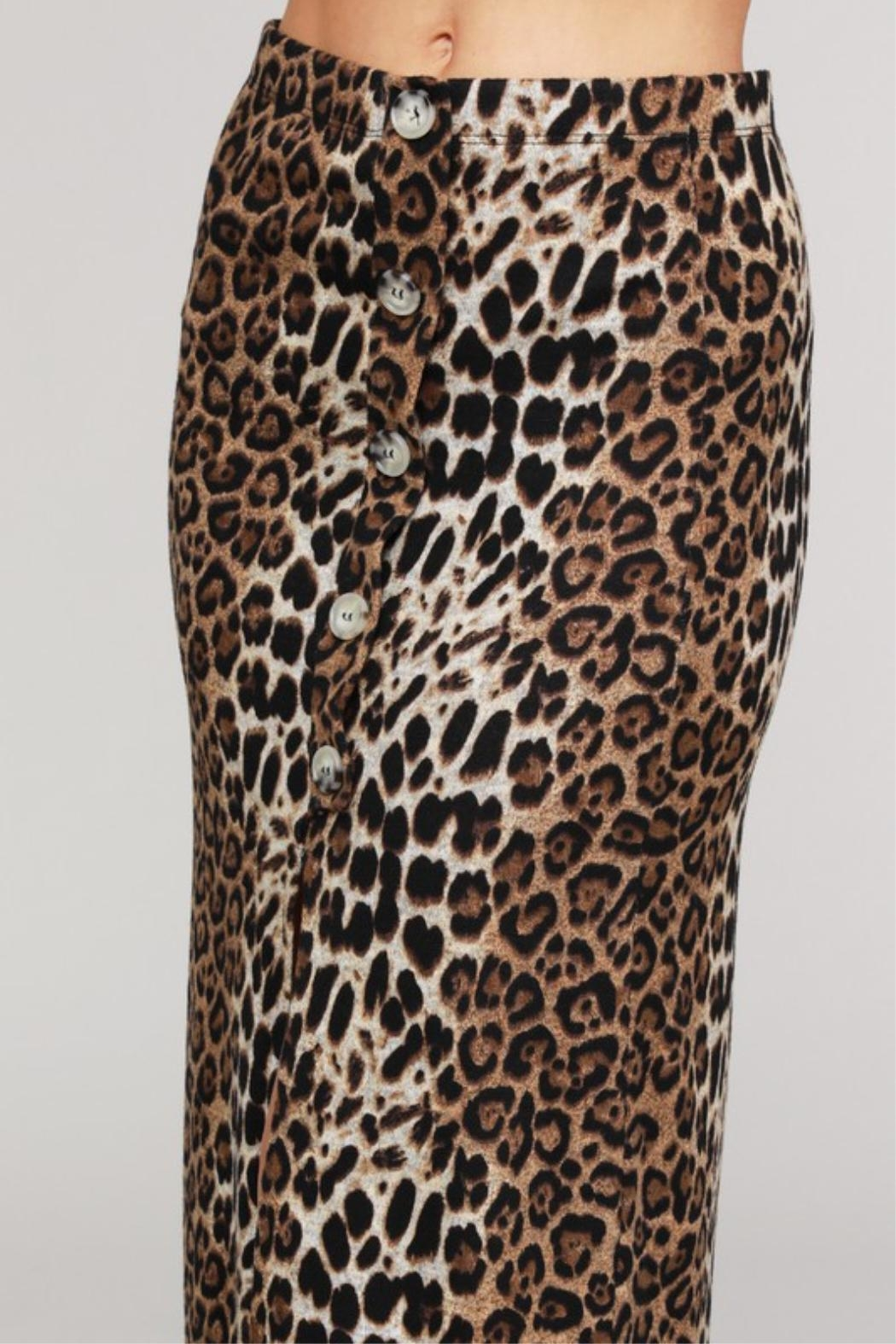 Project Lane Leopard Hacci Midi - Back Cropped Image
