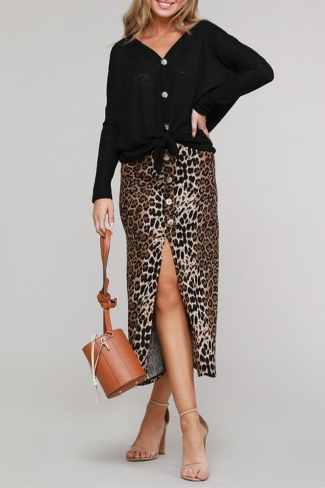 Project Lane Leopard Hacci Midi - Front Cropped Image