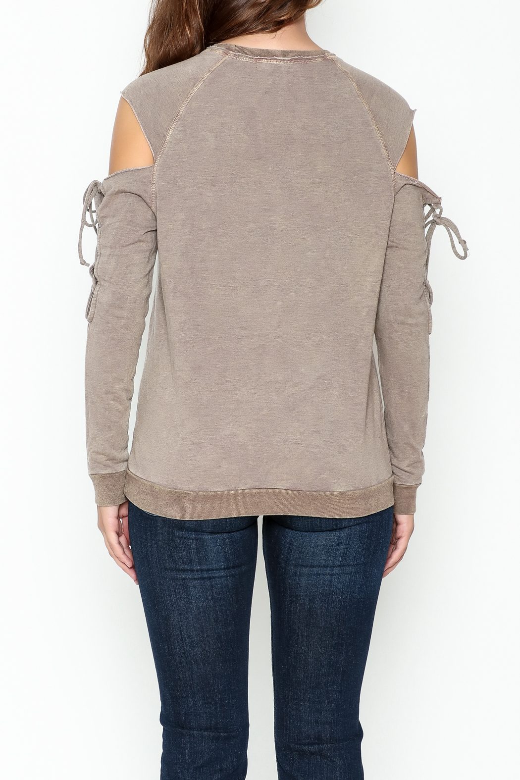 Project Social T Attitude Sweatshirt - Back Cropped Image