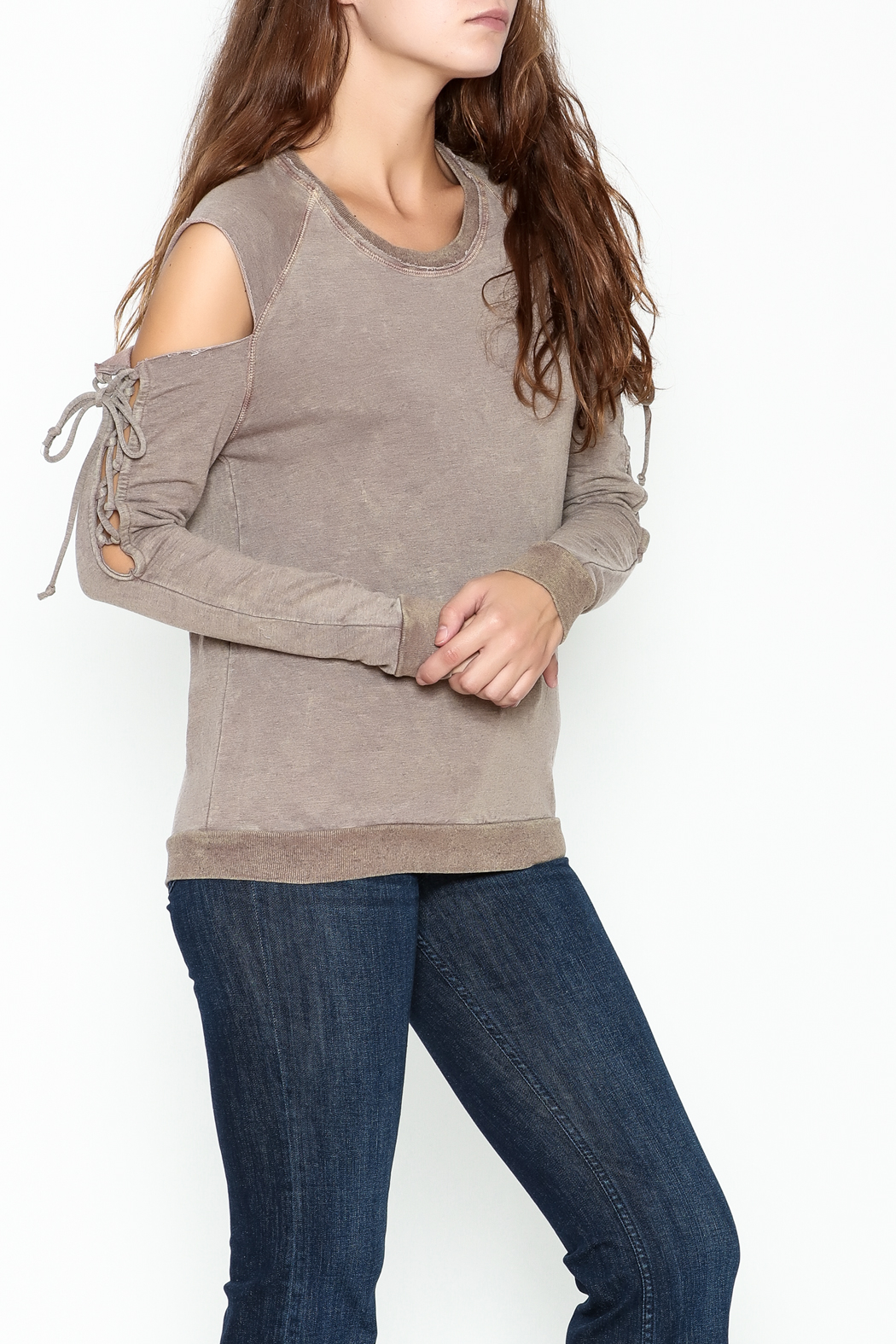 Project Social T Attitude Sweatshirt - Front Cropped Image