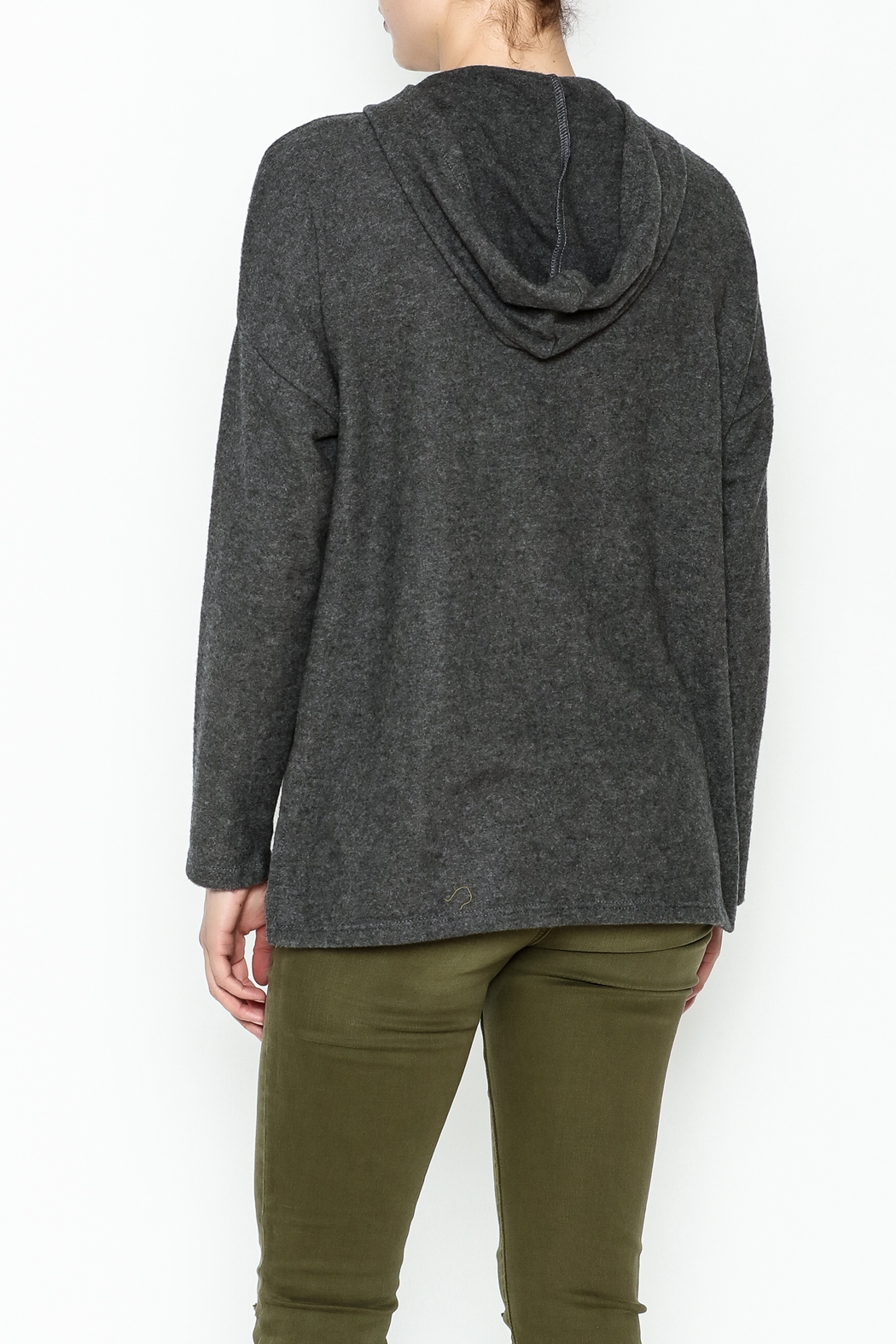 Project Social T Carre Knot Neck Hoodie - Back Cropped Image