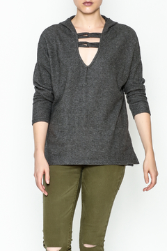 Project Social T Carre Knot Neck Hoodie - Product List Image