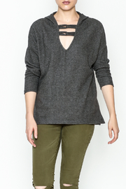 Project Social T Carre Knot Neck Hoodie - Front cropped