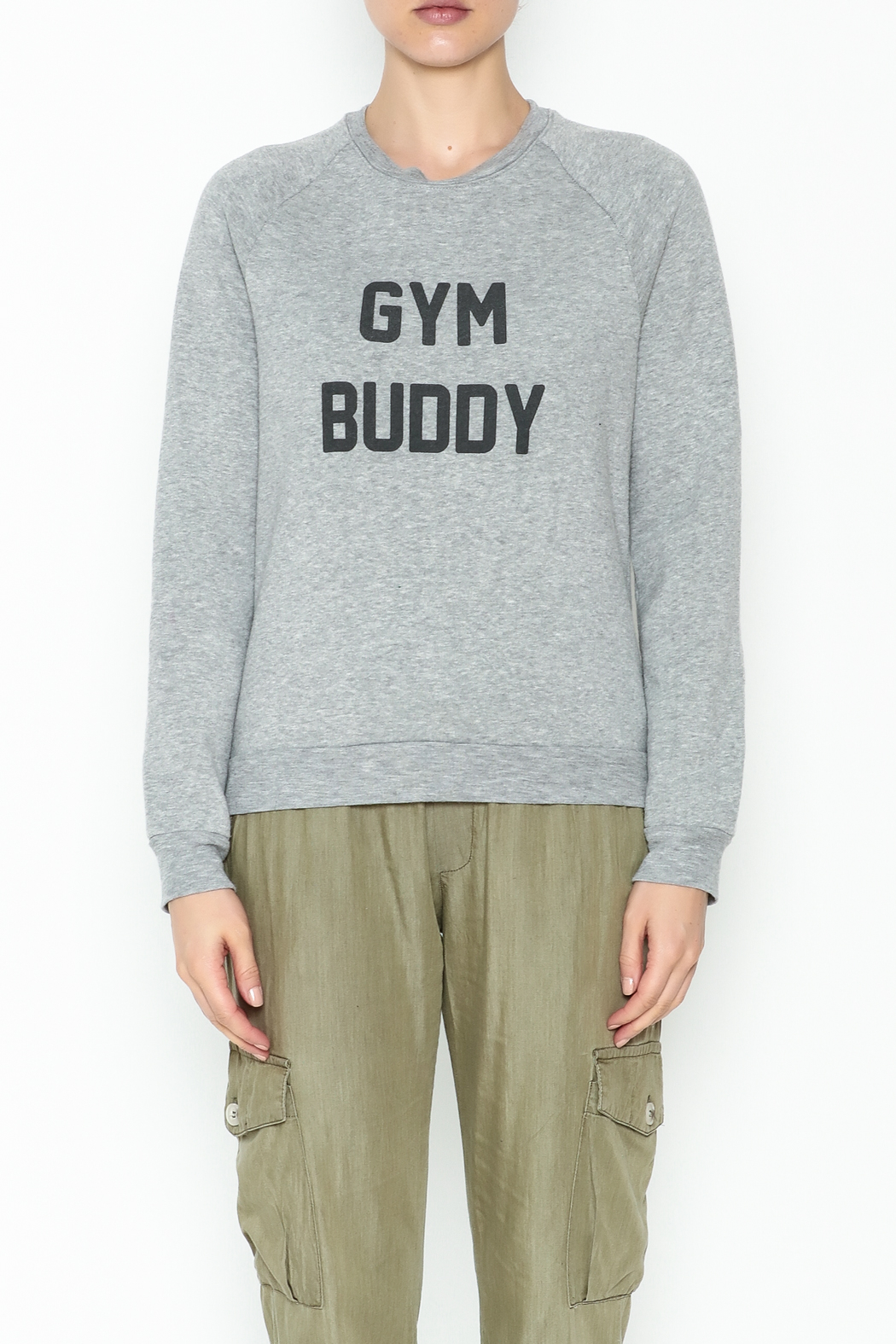 Project Social T Gym Buddy Sweater - Front Full Image
