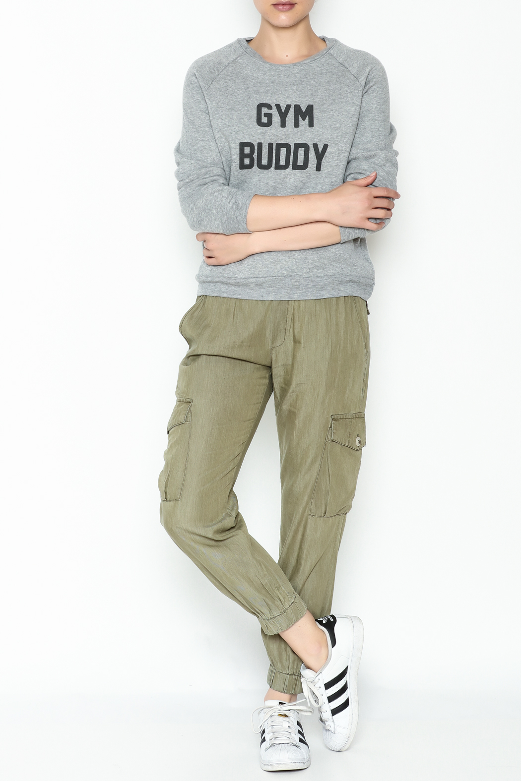 Project Social T Gym Buddy Sweater - Side Cropped Image