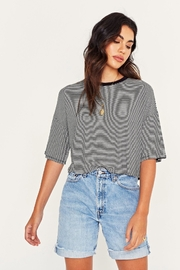 Project Social T Briar Striped Crew - Front cropped