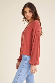 Project Social T Heathered Crew Sweater - Front full body