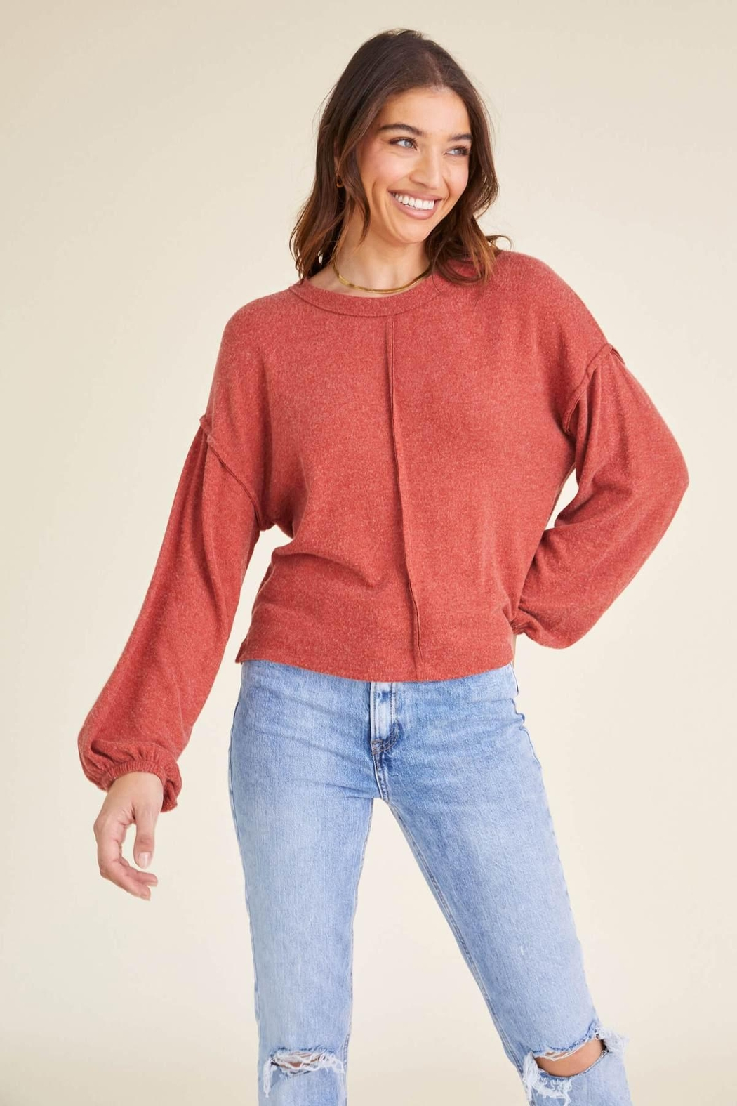 Project Social T Heathered Crew Sweater - Main Image