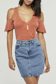 Project Social T Jet Stream Cold Shoulder Top - Product Mini Image