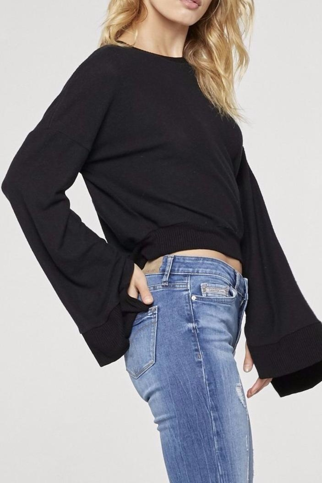 Project Social T Louis Cropped Sweatshirt - Front Full Image