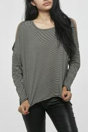 Project Social T Striped Cold Shoulder Top - Product Mini Image