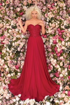 CLARISSE Prom Dress, Red - Product List Image
