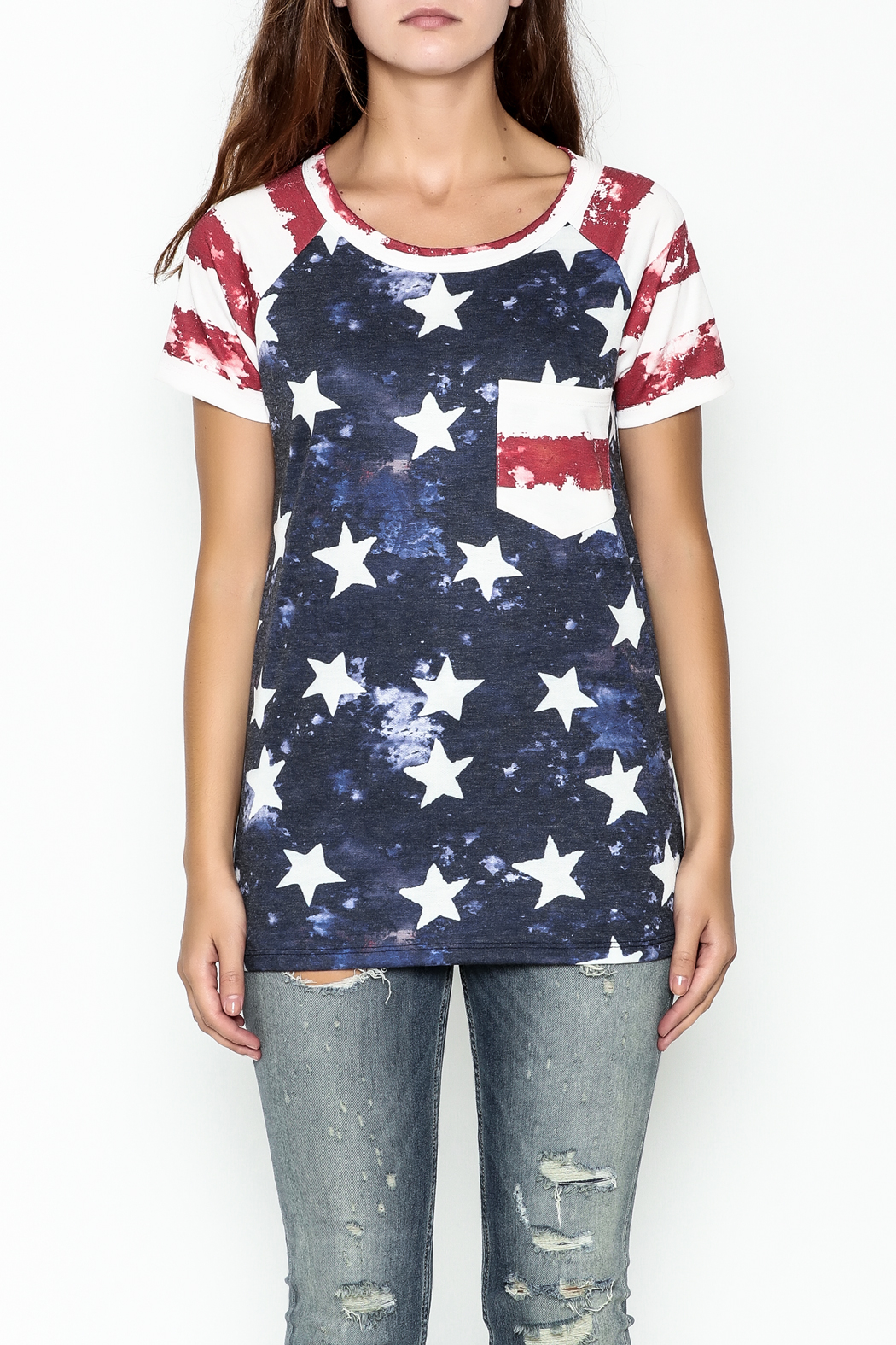 Promesa American Flag Tee - Front Full Image