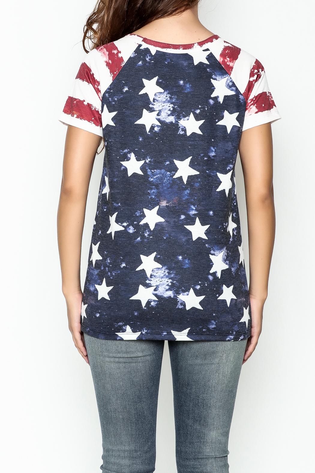 Promesa American Flag Tee - Back Cropped Image