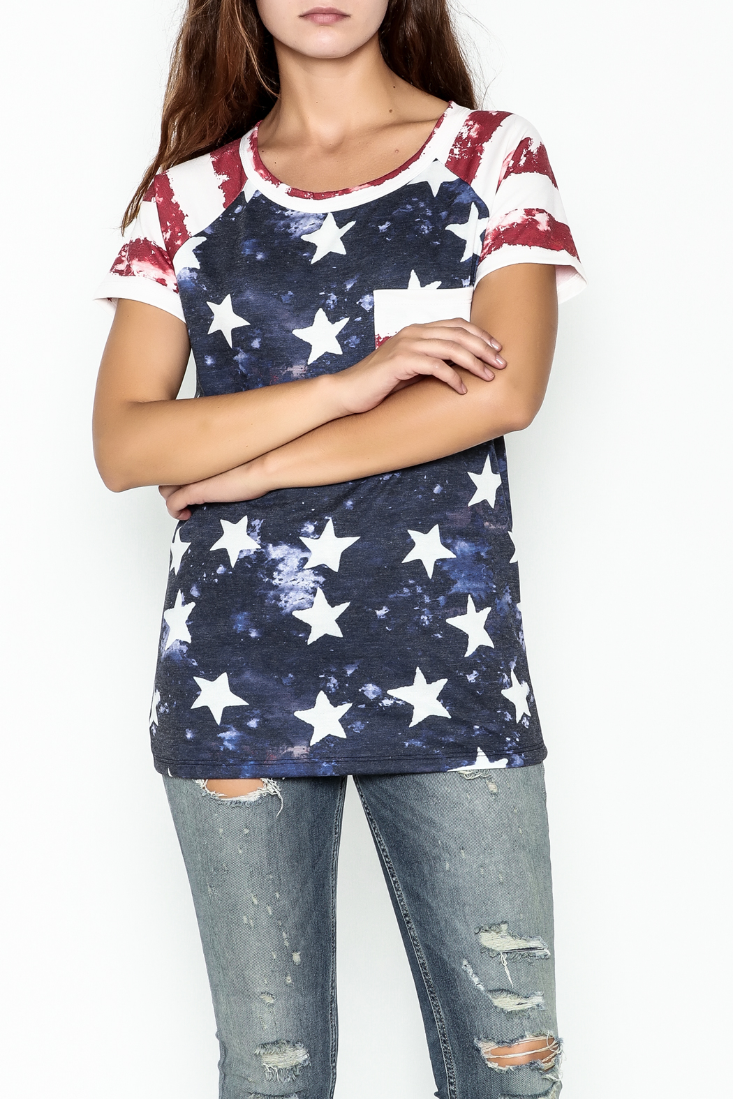 Promesa American Flag Tee - Front Cropped Image