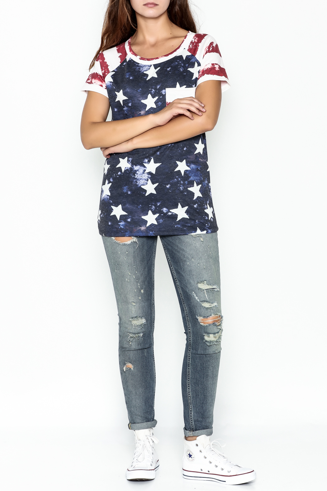 Promesa American Flag Tee - Side Cropped Image