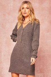 Promesa Charcoal Sweater Dress - Product Mini Image