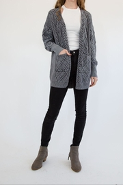 Promesa Chunky Grey Cardigan - Product Mini Image