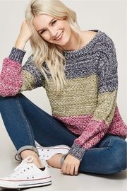 Promesa Color Block Sweater - Product Mini Image