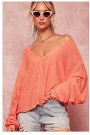 Promesa Dropped Shoulder Sweater - Front cropped