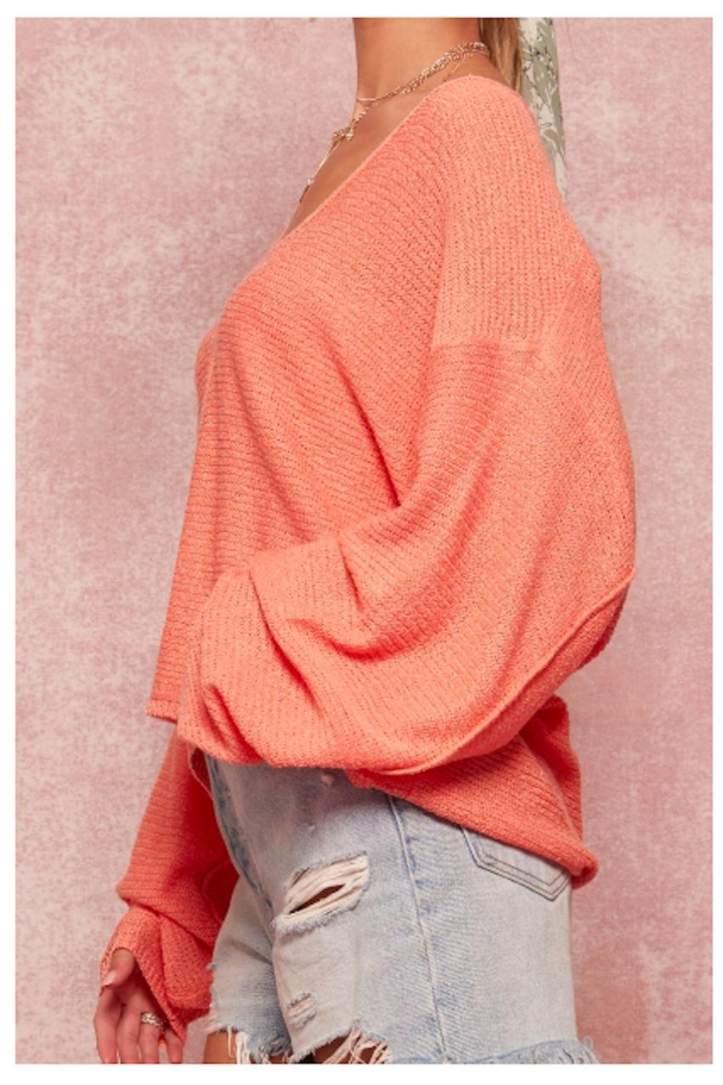 Promesa Dropped Shoulder Sweater - Front Full Image