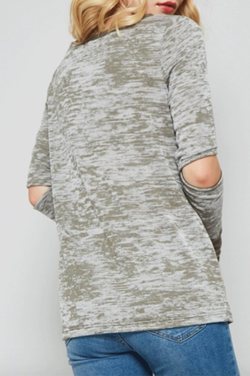 Promesa Elbow Burnout Top - Side Cropped Image