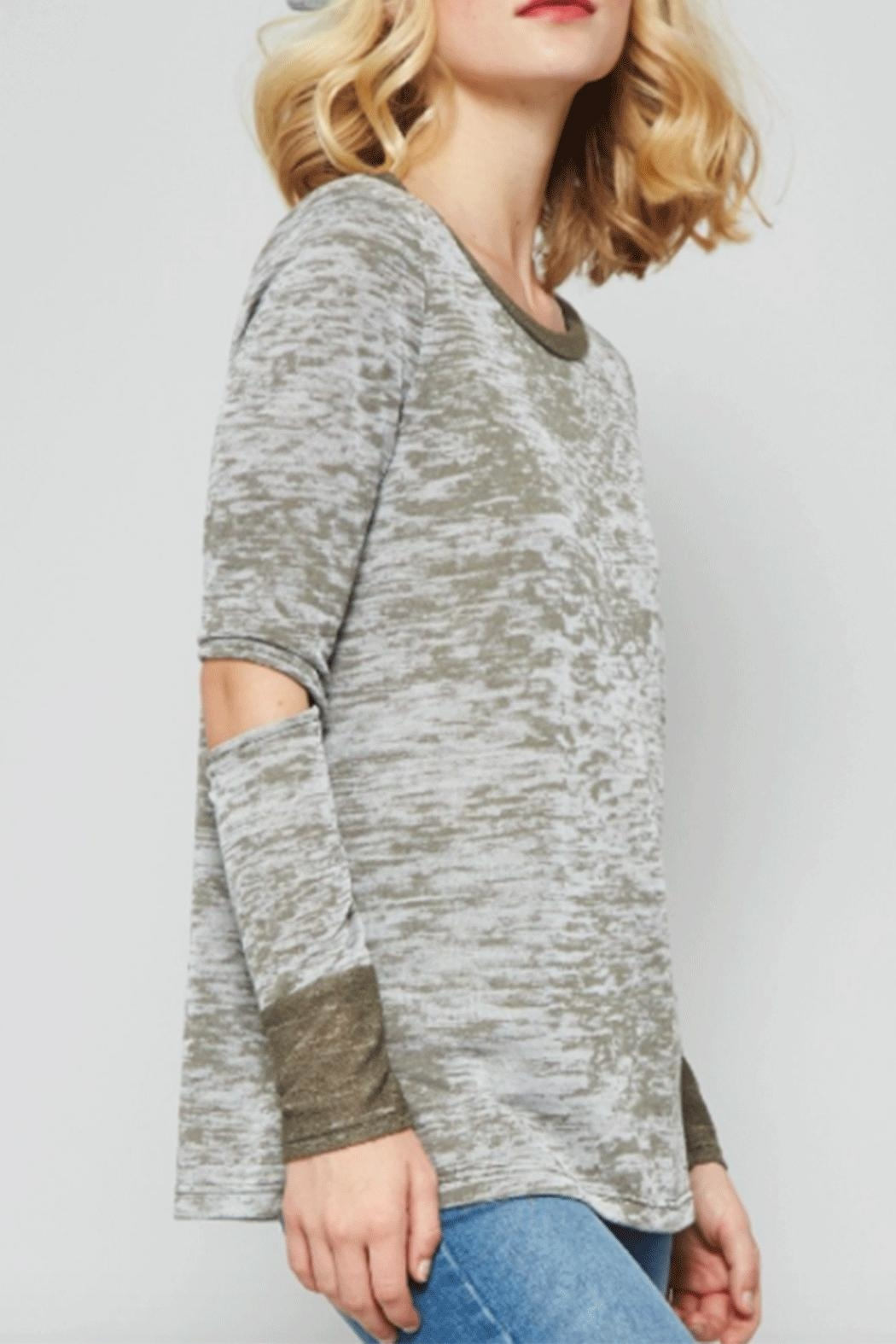Promesa Elbow Burnout Top - Front Full Image
