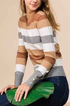 Promesa Ella Stripe Sweater - Alternate List Image