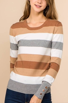Promesa Ella Stripe Sweater - Product List Image
