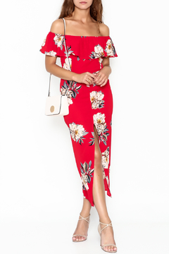 Shoptiques Product: Floral Red Dress