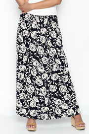 Promesa Navy Floral Skirt - Product Mini Image