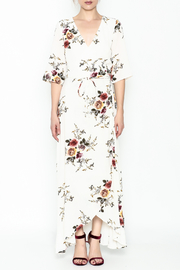 Promesa Floral Wrap Dress - Front full body