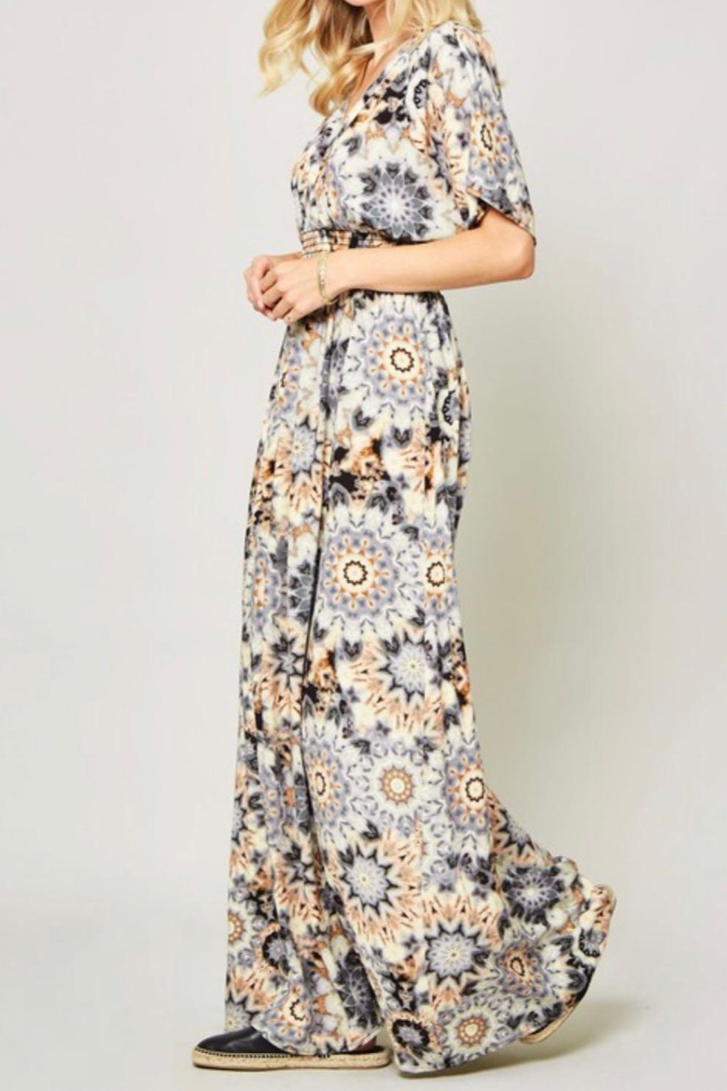 Promesa Kimono Maxi Dress - Side Cropped Image