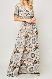 Promesa Kimono Maxi Dress - Front full body