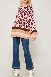 Promesa Leopard Patterned Knit Sweater - Product Mini Image