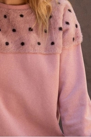 Promesa Mauve Fur Sweatshirt - Front full body