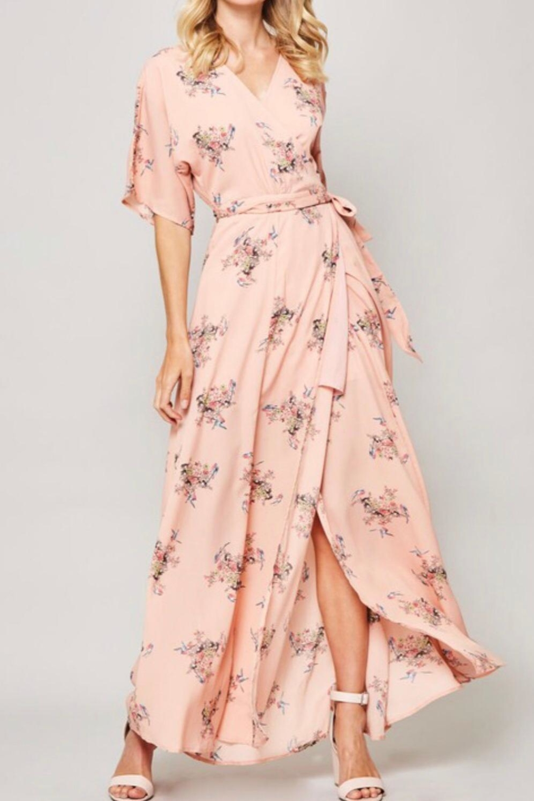 Promesa Maxi Wrap Dress - Front Cropped Image