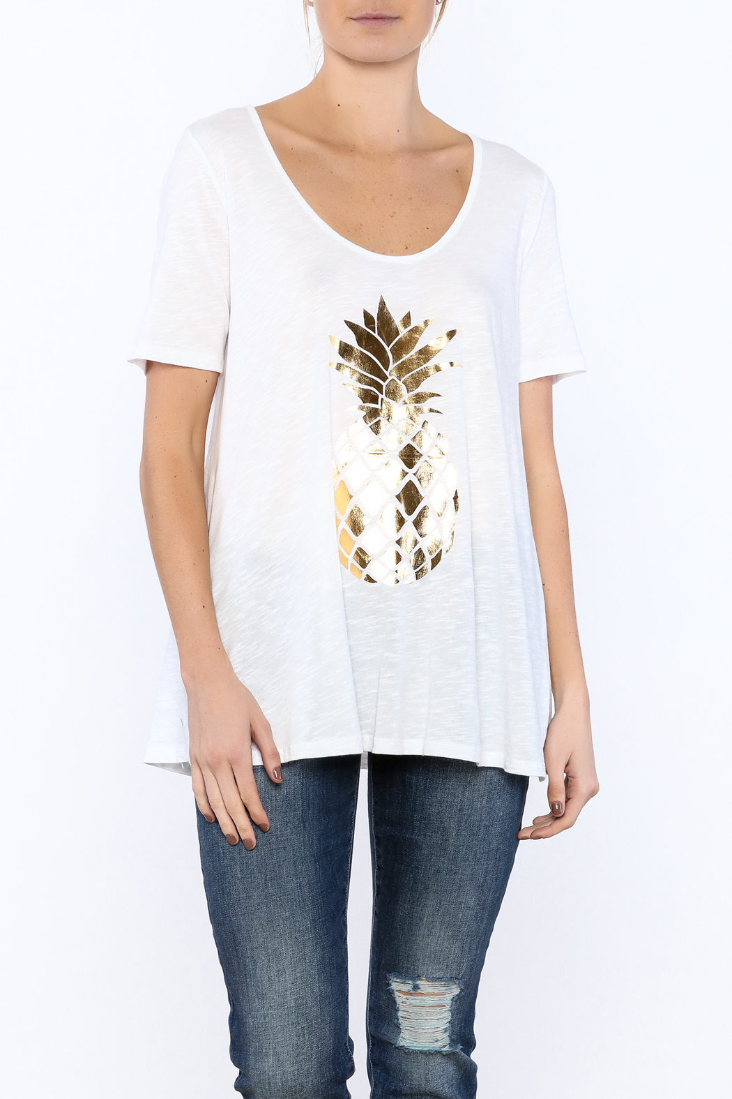 Promesa Pineapple Graphic Tee - Front Cropped Image