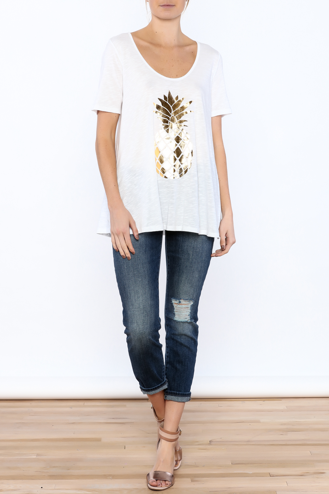 Promesa Pineapple Graphic Tee - Front Full Image