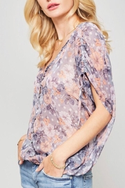 Promesa Sheer Floral Top - Back cropped