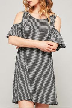 Shoptiques Product: Striped Cold Shoulder Dress