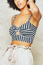 Promesa Striped Cut-Out Bustier - Front cropped
