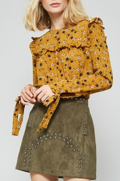 Shoptiques Product: Studded Suede Mini Skirt