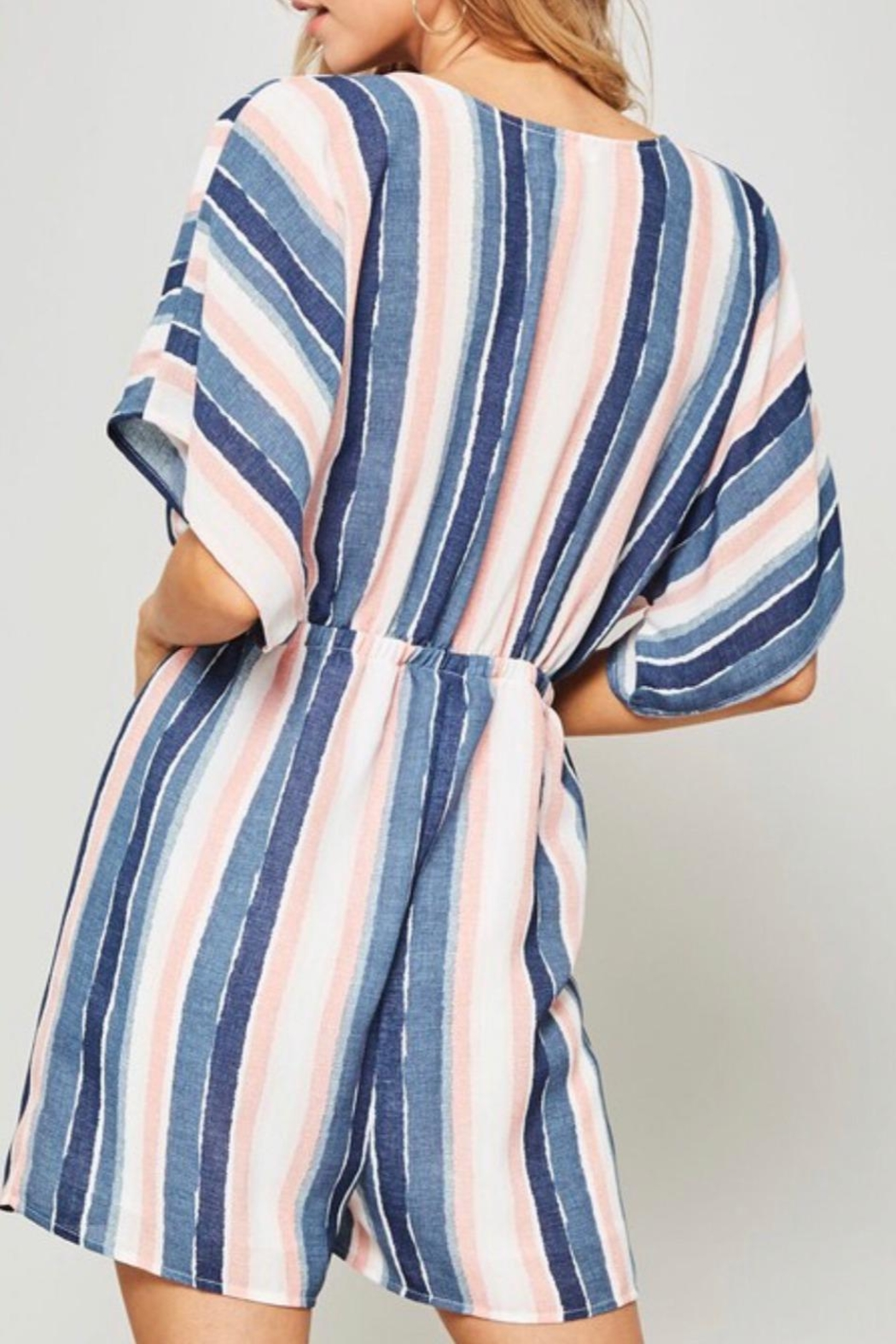 Promesa Tie Front Romper - Side Cropped Image