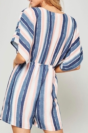 Promesa Tie Front Romper - Side cropped