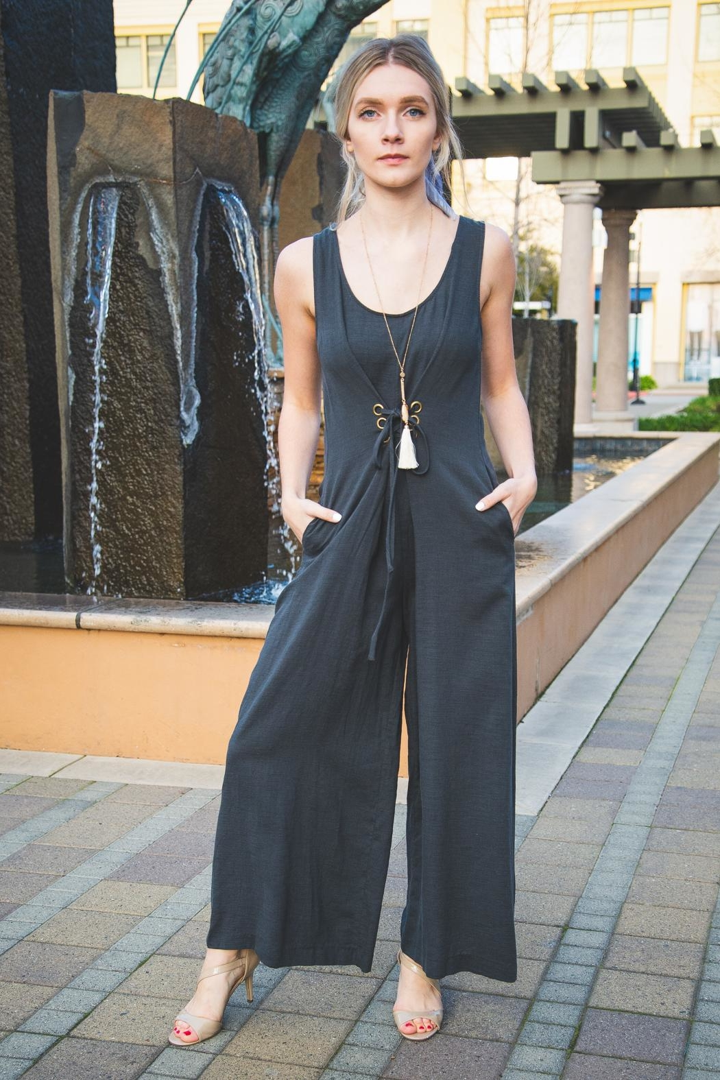 Promesa Tied To You-Jumpsuit - Front Full Image