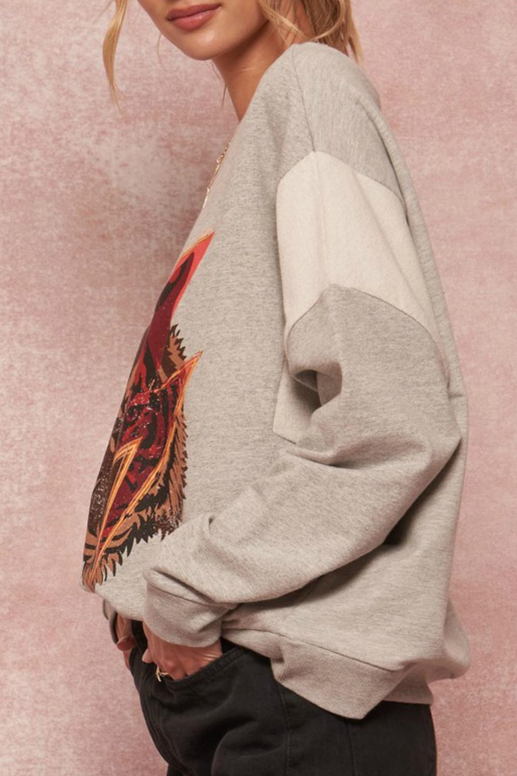 Promesa Tiger Graphic Sweatshirt - Side Cropped Image